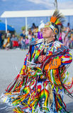 Paiute Tribe Pow Wow. LAS VEGAS - MAY 24 : Native American man takes part at the 25th Annual Paiute Tribe Pow Wow on May 24 , 2014 in Las Vegas Nevada. Pow wow stock image