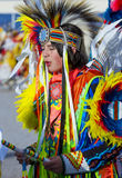 Paiute Tribe Pow Wow. LAS VEGAS - MAY 24 : Native American man takes part at the 25th Annual Paiute Tribe Pow Wow on May 24 , 2014 in Las Vegas Nevada. Pow wow royalty free stock photo