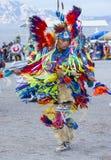 Paiute Tribe Pow Wow. LAS VEGAS - MAY 24 : Native American man takes part at the 25th Annual Paiute Tribe Pow Wow on May 24 , 2014 in Las Vegas Nevada. Pow wow stock image
