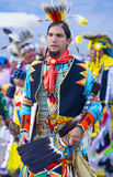 Paiute Tribe Pow Wow. LAS VEGAS - MAY 24 : Native American man takes part at the 25th Annual Paiute Tribe Pow Wow on May 24 , 2014 in Las Vegas Nevada. Pow wow royalty free stock photo