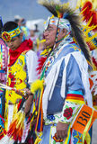 Paiute Tribe Pow Wow. LAS VEGAS - MAY 24 : Native American man takes part at the 25th Annual Paiute Tribe Pow Wow on May 24 , 2014 in Las Vegas Nevada. Pow wow royalty free stock images
