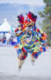 Paiute Tribe Pow Wow. LAS VEGAS - MAY 24 : Native American man takes part at the 25th Annual Paiute Tribe Pow Wow on May 24 , 2014 in Las Vegas Nevada. Pow wow royalty free stock photos