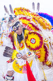Paiute Tribe Pow Wow. LAS VEGAS - MAY 24 : Native American man takes part at the 26th Annual Paiute Tribe Pow Wow on May 24 , 2015 in Las Vegas Nevada. Pow wow stock photo
