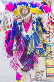 Paiute Tribe Pow Wow. LAS VEGAS - MAY 24 : Native American man takes part at the 26th Annual Paiute Tribe Pow Wow on May 24 , 2015 in Las Vegas Nevada. Pow wow stock image