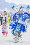 Paiute Tribe Pow Wow. LAS VEGAS - MAY 24 : Native American man takes part at the 26th Annual Paiute Tribe Pow Wow on May 24 , 2015 in Las Vegas Nevada. Pow wow royalty free stock images