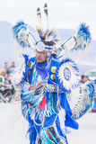 Paiute Tribe Pow Wow. LAS VEGAS - MAY 24 : Native American man takes part at the 26th Annual Paiute Tribe Pow Wow on May 24 , 2015 in Las Vegas Nevada. Pow wow royalty free stock photo