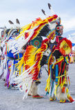 Paiute Tribe Pow Wow. LAS VEGAS - MAY 24 : Native American men takes part at the 25th Annual Paiute California on August 31 2013 ,Pow wow is native American stock photo