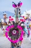 Paiute Tribe Pow Wow. LAS VEGAS - MAY 24 : Native American men takes part at the 25th Annual Paiute Tribe Pow Wow on May 24 , 2014 in Las Vegas Nevada. Pow wow royalty free stock image