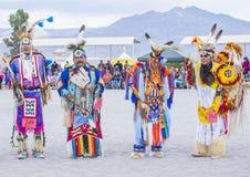Paiute Tribe Pow Wow. LAS VEGAS - MAY 24 : Native American men takes part at the 26th Annual Paiute Tribe Pow Wow on May 24 , 2015 in Las Vegas Nevada. Pow wow stock image