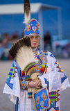 Paiute Tribe Pow Wow. LAS VEGAS - MAY 24 : Native American woman takes part at the 25th Annual Paiute Tribe Pow Wow on May 24 , 2014 in Las Vegas Nevada. Pow wow royalty free stock photography