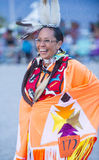 Paiute Tribe Pow Wow. LAS VEGAS - MAY 24 : Native American woman takes part at the 25th Annual Paiute Tribe Pow Wow on May 24 , 2014 in Las Vegas Nevada. Pow wow royalty free stock images