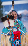 Paiute Tribe Pow Wow. LAS VEGAS - MAY 24 : Native American woman takes part at the 25th Annual Paiute Tribe Pow Wow on May 24 , 2014 in Las Vegas Nevada. Pow wow stock image