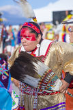 Paiute Tribe Pow Wow. LAS VEGAS - MAY 24 : Native American woman takes part at the 25th Annual Paiute Tribe Pow Wow on May 24 , 2014 in Las Vegas Nevada. Pow wow royalty free stock photos