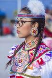 Paiute Tribe Pow Wow. LAS VEGAS - MAY 24 : Native American woman takes part at the 25th Annual Paiute Tribe Pow Wow on May 24 , 2014 in Las Vegas Nevada. Pow wow royalty free stock photo