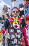 Paiute Tribe Pow Wow. LAS VEGAS - MAY 24 : Native American woman takes part at the 25th Annual Paiute Tribe Pow Wow on May 24 , 2014 in Las Vegas Nevada. Pow wow stock photo