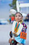 Paiute Tribe Pow Wow. LAS VEGAS - MAY 24 : Native American woman takes part at the 25th Annual Paiute Tribe Pow Wow on May 24 , 2014 in Las Vegas Nevada. Pow wow royalty free stock image