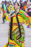Paiute Tribe Pow Wow. LAS VEGAS - MAY 24 : Native American woman takes part at the 26th Annual Paiute Tribe Pow Wow on May 24 , 2015 in Las Vegas Nevada. Pow wow royalty free stock image