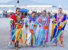 Paiute Tribe Pow Wow. LAS VEGAS - MAY 24 : Native American women takes part at the 25th Annual Paiute Tribe Pow Wow on May 24 , 2014 in Las Vegas Nevada. Pow wow stock image