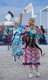 Paiute Tribe Pow Wow. LAS VEGAS - MAY 24 : Native American women takes part at the 25th Annual Paiute Tribe Pow Wow on May 24 , 2014 in Las Vegas Nevada. Pow wow royalty free stock photos