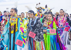 Paiute Tribe Pow Wow. LAS VEGAS - MAY 24 : Native American women takes part at the 26th Annual Paiute Tribe Pow Wow on May 24 , 2015 in Las Vegas Nevada. Pow wow stock image