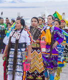 Paiute Tribe Pow Wow. LAS VEGAS - MAY 24 : Native American women takes part at the 26th Annual Paiute Tribe Pow Wow on May 24 , 2015 in Las Vegas Nevada. Pow wow royalty free stock image