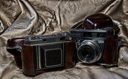 A paixão de câmeras do vintage Fotos de Stock
