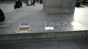 Paix мира для Парижа, Франции сток-видео