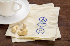 Paix, amour et bonheur Photographie stock
