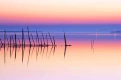 Paix au lac image libre de droits