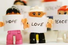 Paix d'amour d'espoir Photo stock