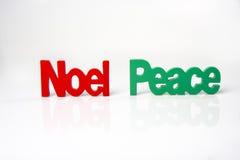 Paix de Noel Photo libre de droits