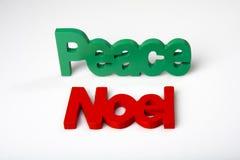 Paix de Noel Photographie stock