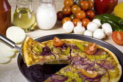 Paix de pizza et de composants Photos stock