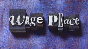 Paix de salaire Image stock