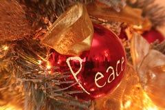 Paix de souhait de Noël Photo libre de droits