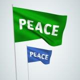 Paix - drapeaux de vecteur Images libres de droits