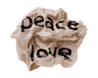 Paix et amour Photos libres de droits