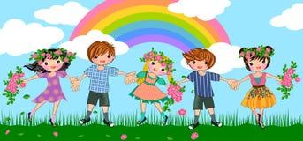 Paix et joie illustration libre de droits