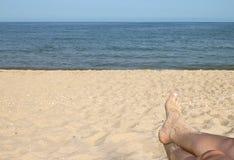 Paix sur la plage. Photographie stock