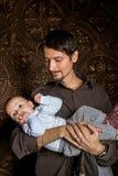 Paizinho com bebê Foto de Stock Royalty Free