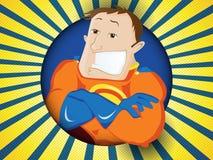 Paizinho do super-herói Dia de pais feliz ilustração royalty free