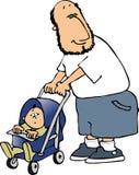 Paizinho e bebê ilustração royalty free