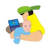 Paizinho e bebê Imagens de Stock
