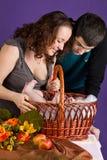 Paizinho e bebê da mamã Imagem de Stock