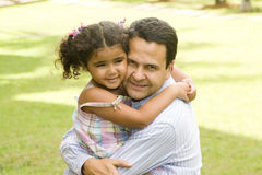 Paizinho e filha Imagens de Stock