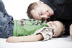 Paizinho e filho Fotografia de Stock