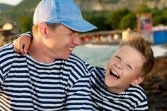 Paizinho e filho Fotos de Stock Royalty Free