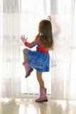 Pająk dziewczyna Obraz Royalty Free