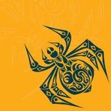 Pająka Plemienny tatuaż Fotografia Royalty Free