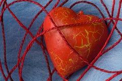pajęczyna kształt bawełniany kierowy czerwony Obrazy Stock